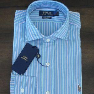 Ralph Lauren LS Striped Luxury Estate Oxford Shirt